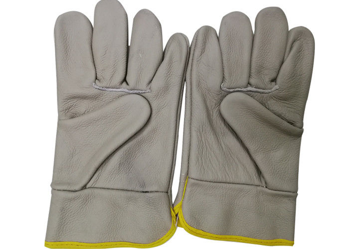 Cowhide Material Beekeeping Gloves Without Cuff